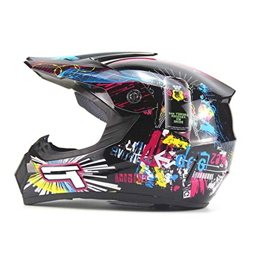 (ShenZhiWing Motocross Helmet Dirt Bike Downhill MTB Racing Helmets Protective 7 S)
