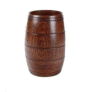 Jarra de cerveza de madera, ulanda-eu primitivo hecho a mano madera natural de zumo de té taza de madera de Jujube vino cerveza potable taza café taza de té vaso de acampada