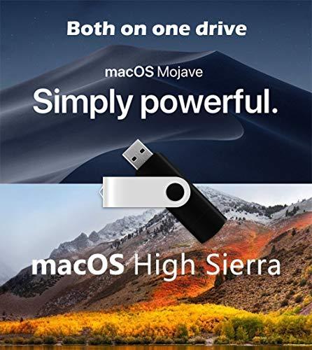 Macintosh OS X Installer - MOJAVE (Mac OS X.14) & HIGH SIERRA (Mac OS X.13) Dual Bootable USB Drive