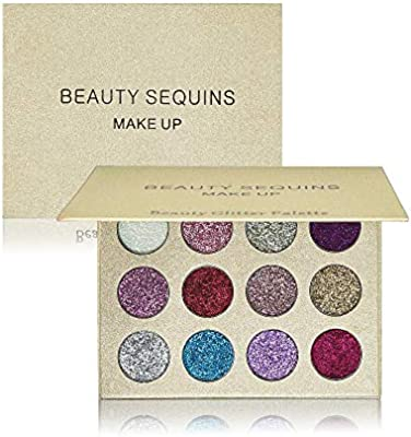 Eye Shadow Brand 12 Color Liquid Quality Sequins Eye Shadow Palette Matte Shimmer Flash Smoky Makeup Powder Cosmetics Set Shadow Palette Vivid And Great In Style Beauty & Health