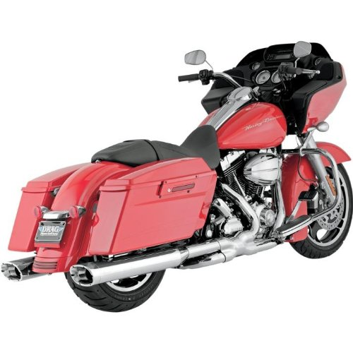 06-16 HARLEY FLHX2: Vance & Hines Monster Ovals Slip-On Exhaust (Chrome With Chrome Tips) ()