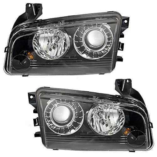 Driver and Passenger HID Headlights Headlamps Replacement for Dodge 4806443AB 4806442AB AutoAndArt