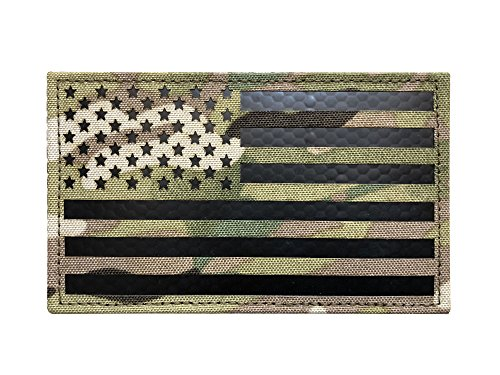 Patch Inch 5 (3x5 Large Multicam Infrared IR US USA American Flag Patch Tactical Vest Patch Velcro (5