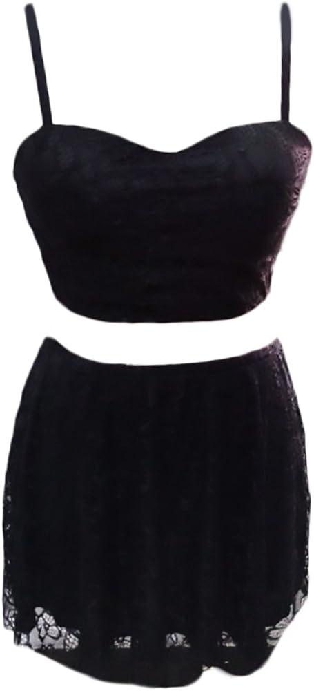 Mujer Conjuntos De Crop Top Y Falda 2 Piezas Elegantes Vintage ...
