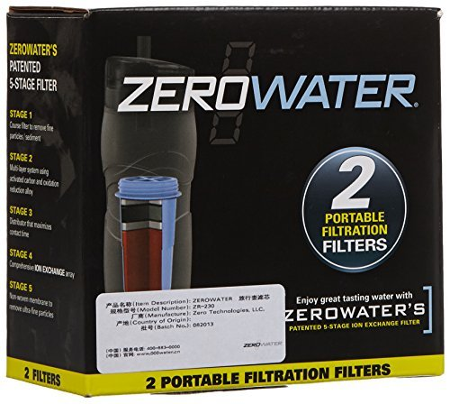 ZeroWater ZR-230 2-Pack Travel Bottle Filters by ZeroWater by ZeroWater