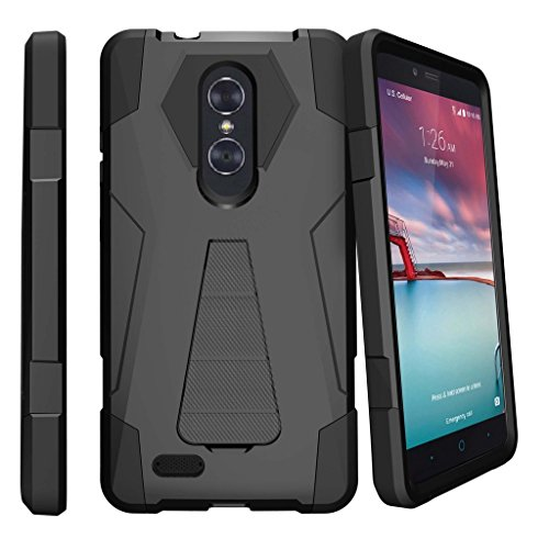 huge selection of f0cc8 0e13f MINITURTLE Case Compatible w/ MINITURTLE DualKayer Case Compatible w/ ZTE  Carry, ZTE Blade X Max & ZTE Carry [Shock Fusion Stand ] ...