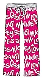 Disney Classic Minnie Mouse Womens Pajama Pants - Loves Minnie - Pink
