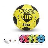 Inflatable Soccer Balls Pool Party Favor Beachballs Birthday Yellow,8.3''