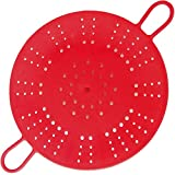 Vegetable Steamer,Silicone Steamer Basket with Handle Bars for Healthy Cooking Fruits, Basket Pressure Cook Heat- Resistant Microwaveable, Dishwasher Safe Review