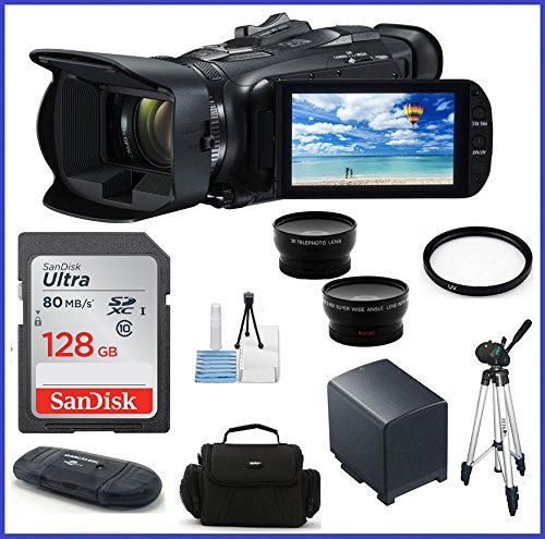 Canon  VIXIA HF G40 Full HD Camcorder 128GB Pro Bundle- Cano