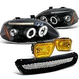 Spec-D Honda Civic Black Halo Led Proj Headlights, Grille...