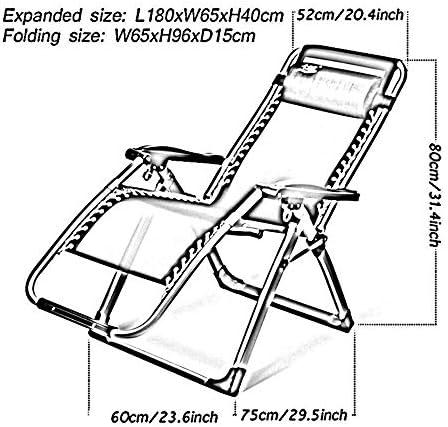 サンラウンジャー、折りたたみテキスタイルリクライニングチェアガーデンサンラウンジャービーチデッキチェア調整可能な無重力屋外ポータブルブラック、サポート200kg(カラー:シルバー、サイズ:クッション付き)
