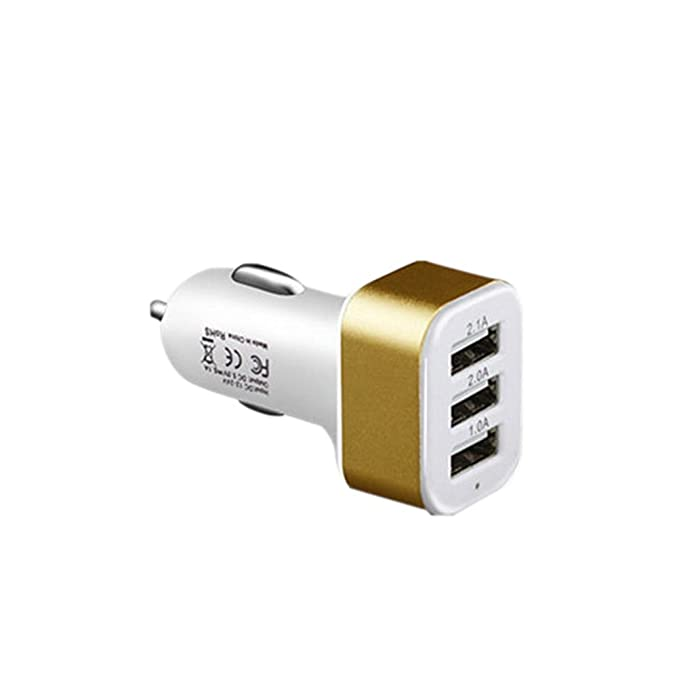 Cargador de Coche, 3 USB Cargador de Coche: Amazon.es ...