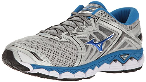 cheap fashion Style Mizuno Men's Wave Sky Running Shoe Silver/Directoire Blue/Black discount countdown package afMfxf
