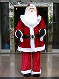 Vickerman Huge Life-Size Decorative Plush Santa Claus (Sitting or Standing), 6'