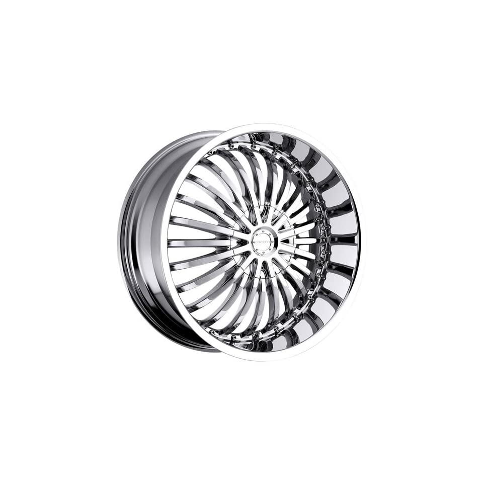 Strada Spina 22 Chrome Wheel / Rim 5x4.5 & 5x120 with a 18mm Offset and a 74.1 Hub Bore. Partnumber S16250118D