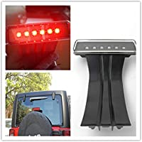 FMtoppeak Black LED Brake Lights JK LED Third lights CHMSL Stoplight for 2007-2016 Jeep Wrangler & Unlimited JK LED Third lights
