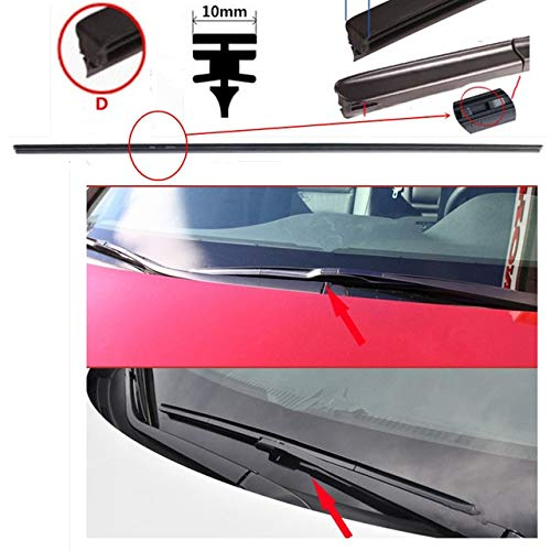 Wipers Car Windshield wipers blade Rubber strip for FORD FOCUS 2 3 MK2 3 FIESTA RANGER MUSTANG KUGA FUSION c-max car Wiper accessories - (Item Length: 20