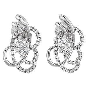 eternal Jewels Ladies 18K White Gold Stud earrings