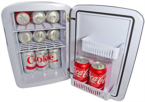 Cooluli Mini Fridge Electric Cooler and Warmer (15 Liter/18 Can): AC/DC Portable Thermoelectric System (White) by Cooluli (Image #2)