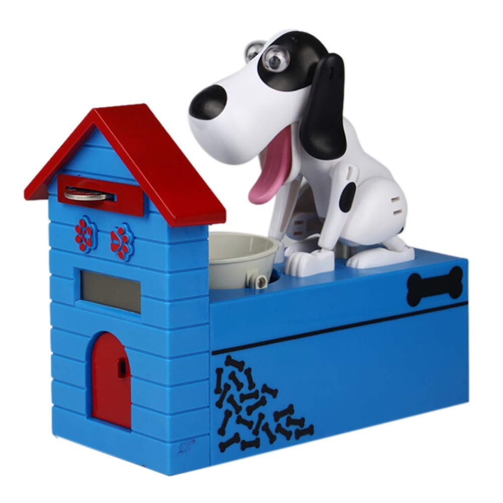 YUYOUG Stealing Coin Dog Piggy Bank Automated House Dog Steal Coin Bank Puppy Bank Money Saving Box Gift Cute Dog Coin Collecting Kids Christmas Birthday Gift