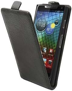 Muvit MUSLI0113 - Funda con tapa y protector de pantalla para Motorola RAZR, color negro