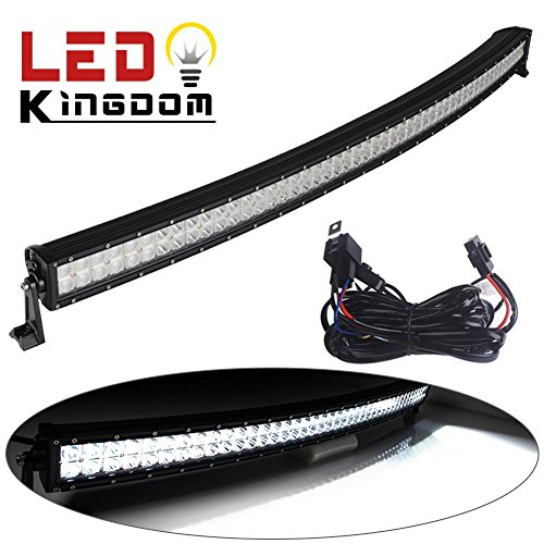 LEDKINGDOMUS-52-Inch-Curved-Led-Light-Bar-Flood-Spot-Combo-LED-Work-Light-for-Offroad-Jeep-Truck-with-Wiring-Harness-and-Mounts-300W