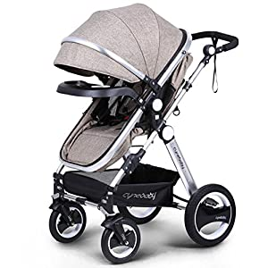 Infant Toddler Baby Stroller Carriage – Cynebaby Compact Pram Strollers add Tray