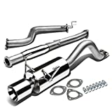 "For Honda Civic Del Sol Stainless Steel 4"" Rolled Muffler Tip Catback Exhaust System"