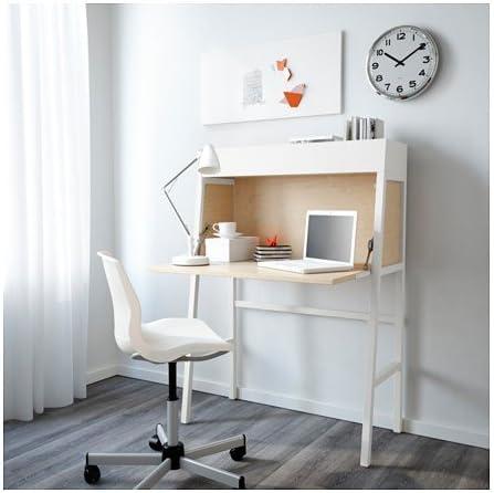 IKEA PS 2014 Sekretär in weiß; aus Birkenfurnier; (90x127cm