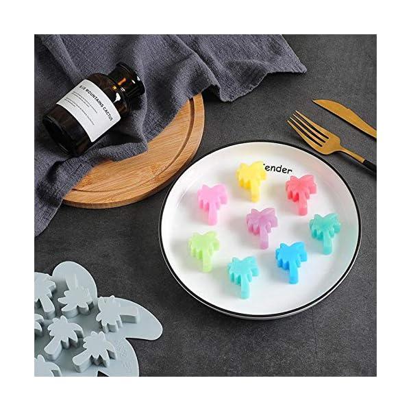 UMTGE - Vaschetta per cubetti di ghiaccio, in silicone e flessibile, 8 vassoi per ghiaccio, per bambini, con caramelle… 6 spesavip