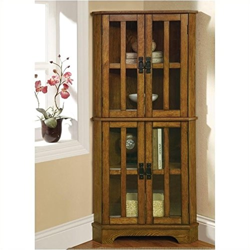 Coaster Home Furnishings Contemporary Curio Cabinet, Warm Brown (Small China Cabinet compare prices)