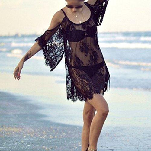 Da Donna Aisi Scoperte Pizzo Sexy Spalle Motivo In Floreale Vestito Con Estivo Vestibilit TwwxqE5B