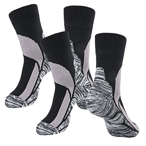 Randy Sun Waterproof Hiking/Hunting/Fishing/Skiing/Outdoor Unisex Breathable Seamless Sports Socks (Grey & Grey, Medium)