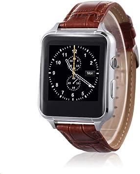 Reloj inteligente, Bluetooth SmartWatch con pantalla táctil de la cámara, relojes inteligentes impermeables con ranura para