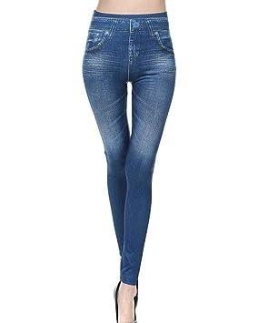 GladiolusA Mujer Elásticos Leggings Leggins Push Up Cintura Alta Jeggings Pantalones Vaqueros Jeans Skinny