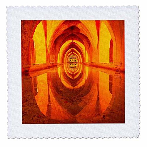 3dRose Danita Delimont - Architecture - Baths of Lady Maria de Padilla, Alcazar Royal Palace, Seville, Spain - 18x18 inch quilt square (qs_257894_7) by 3dRose