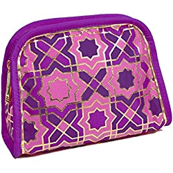 Modella Moroccan Hues Collection Cosmetic Clutch, Purple