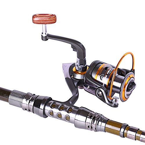 Sougayilang portable telescopic fishing rod with reel for Trout fishing rod and reel