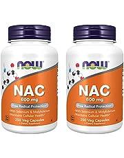 Now Foods Nac-Acetyl Cysteine 600Mg, 250 Vcaps (500 (250X2))