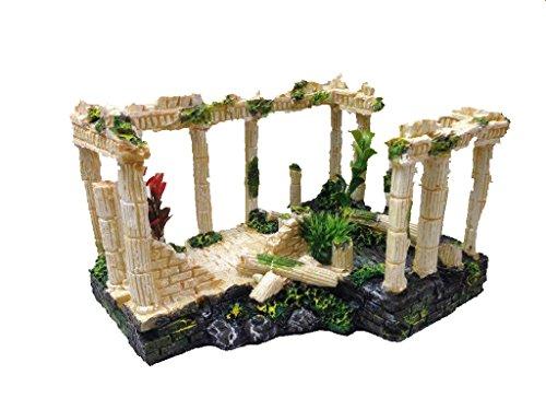 (FixtureDisplays Ancient Ruins Ornament for Aquarium Fish Tank Decoration 12184 12184)