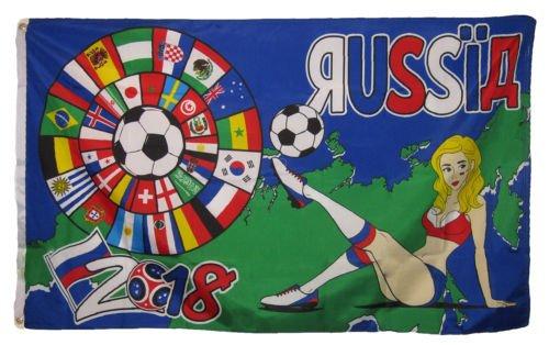 Moon 3x5 International World Cup 2018 Russia Soccer Girl Wom