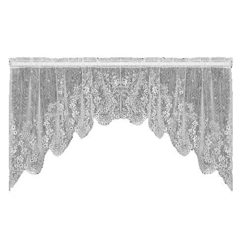 Heritage Lace Floret 68-Inch Wide by 32-Inch Drop Swag Pair, Ecru 6290ES-32PR