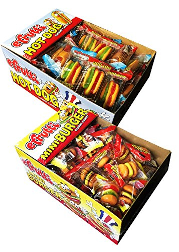 E Frutti Gummy Hamburger and Hot Dog Variety Pack of 120
