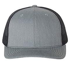 1c13d292 Amazon.com: Richardson Black 112 Mesh Back Trucker Cap Snapback Hat ...