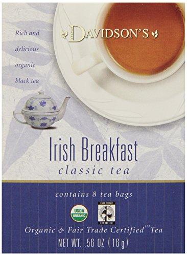 Davidson's Tea Irish Breakfast Tea, 8-Count Tea Bags (Pack of 12)