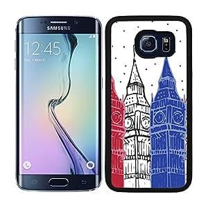 Funda carcasa para Samsung Galaxy S6 Edge Plus diseño Londres Big Ben borde negro