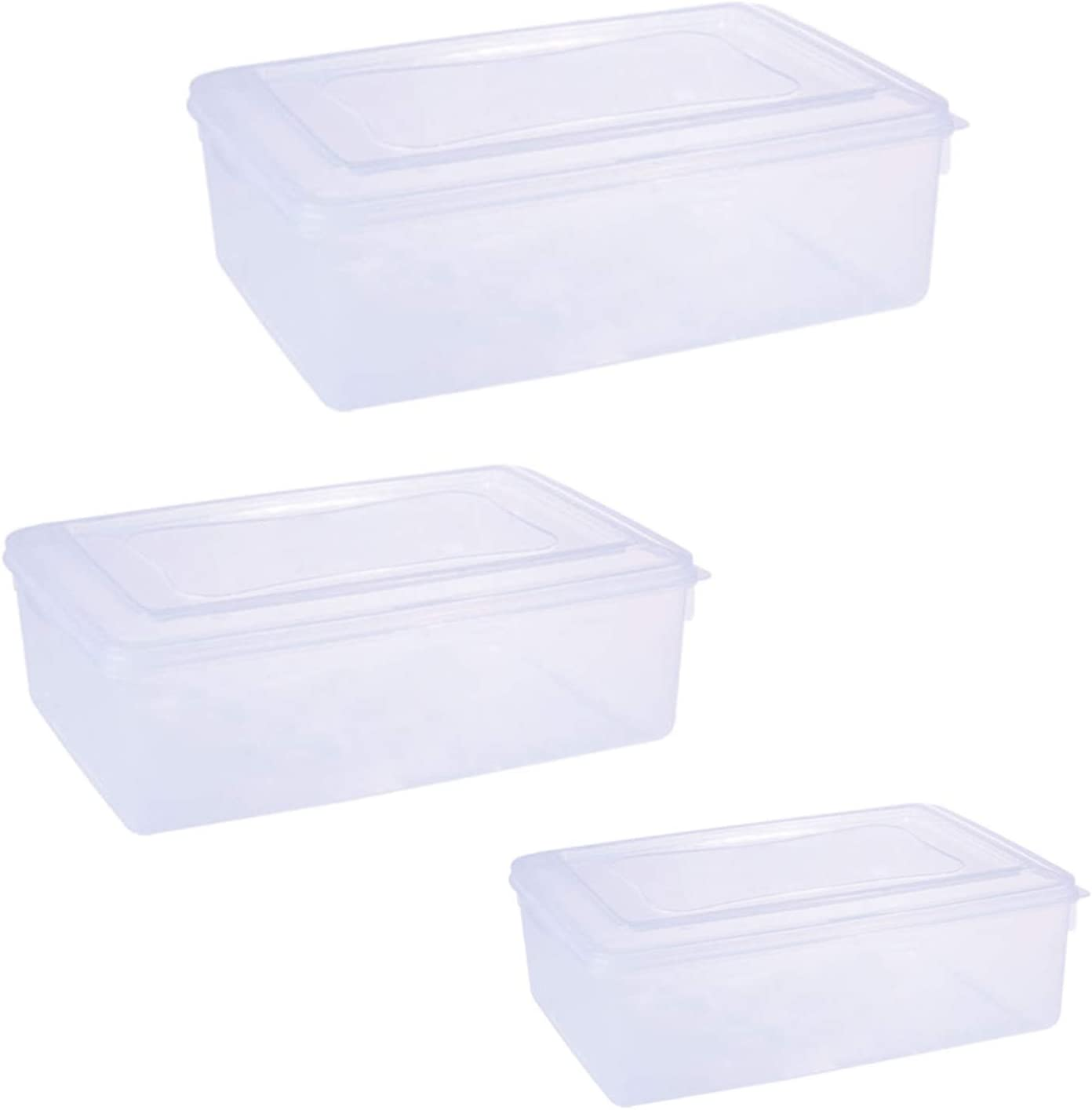Papu Food Storage Container for Flour, Rice, Sugar, Baking Supplies, Bulk and Pet Food, Pack of 3(5.5L, 3.5L, 2.5L)
