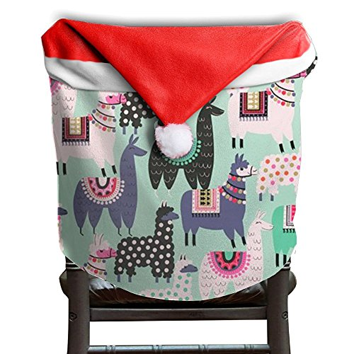 Llama Animal Christmas Chair Covers Cool Not Fade Chair Covers For Christmas For Men And Women Chair Back Covers Holiday Festive by ChengGo
