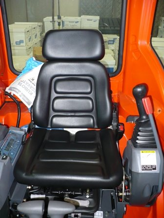 Kubota Excavator - Durafit Seat Covers, Gray Kubota Seat Covers for Excavators U15,U17,U25U,U35S,KX71,KX91,KX121, in Gray Velour